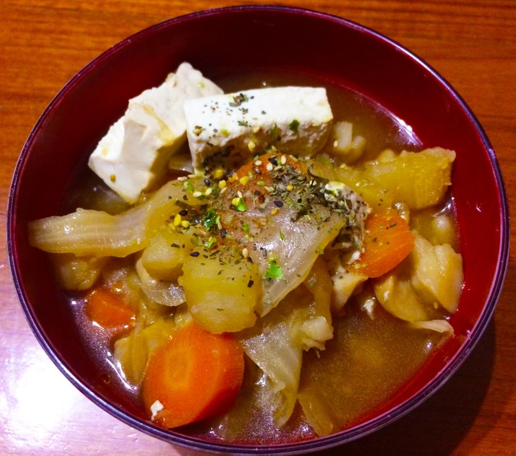 日式馬鈴薯燉杏鮑菇