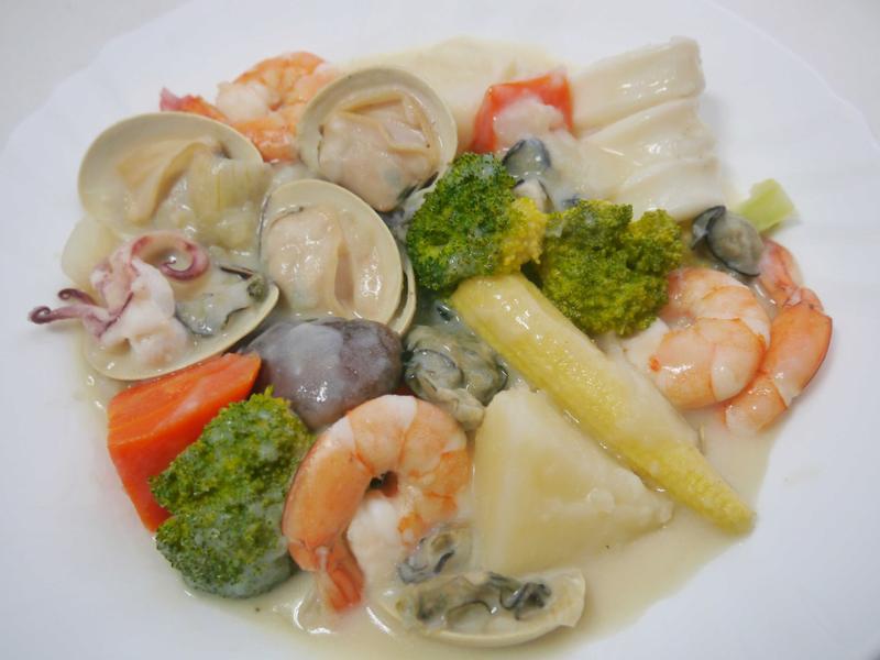 奶油海鮮燉菜