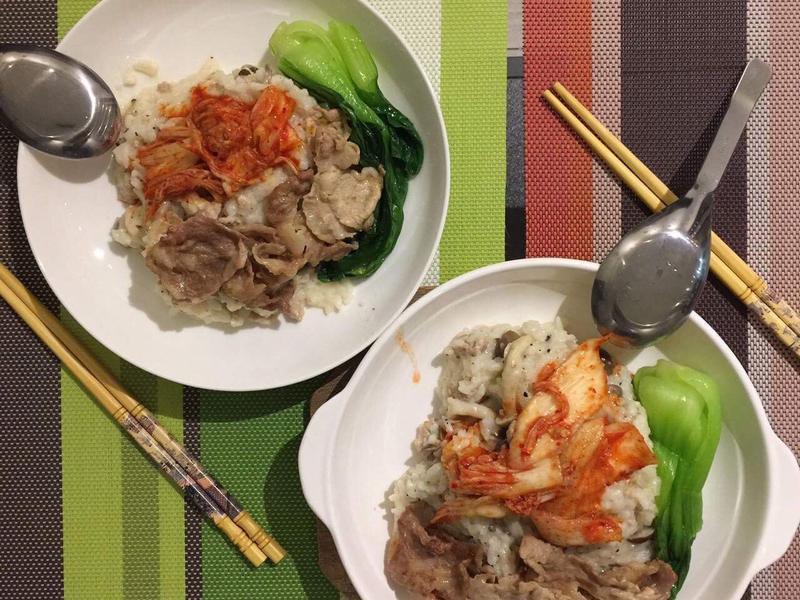 豚肉泡菜白醬燉飯