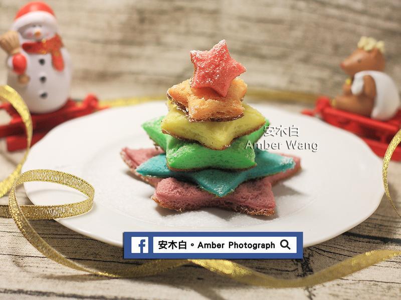 彩色聖誕樹蛋糕