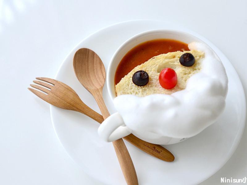 [聖誕節限定]聖誕老人蕃茄湯/創意料理