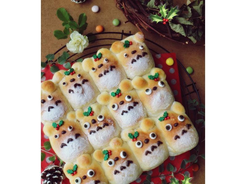 可愛滿點《龍貓手撕麵包》親手做耶誕禮物吧