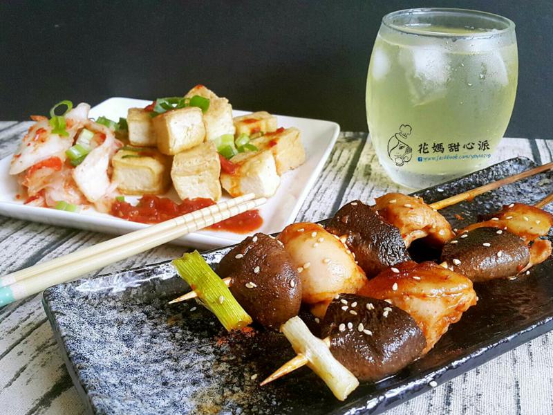 重口味之韓醬鐵板雞肉串燒+臭豆腐