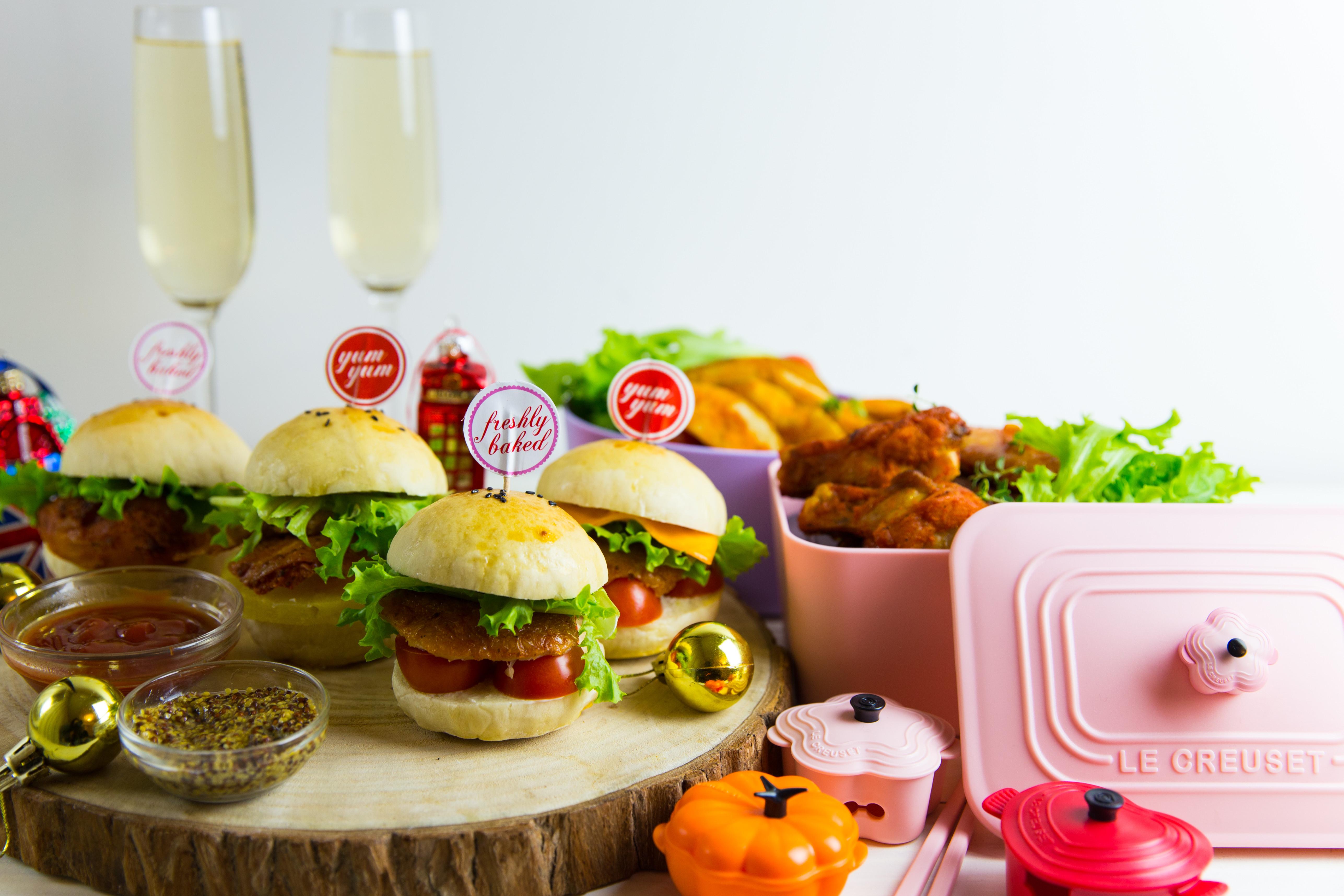 歡樂趴替迷你香草烤雞堡組合  小七食堂