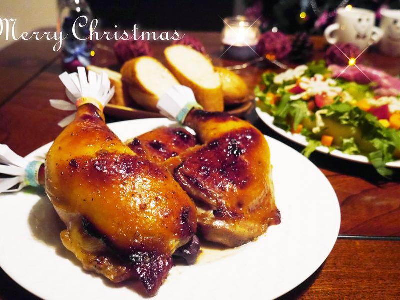【聖誕食譜】歡樂派對-蜂蜜香烤嫩雞腿