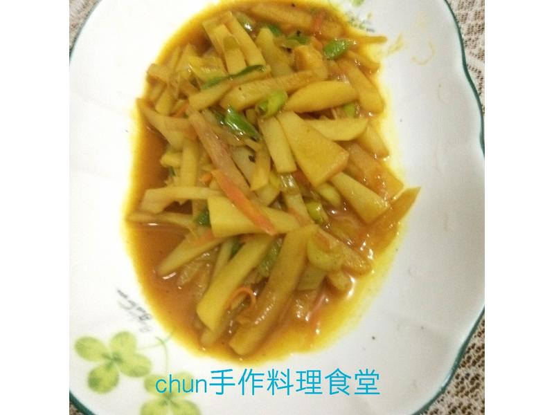 炒咖哩馬鈴薯 (福壽純芝麻油玩料理)