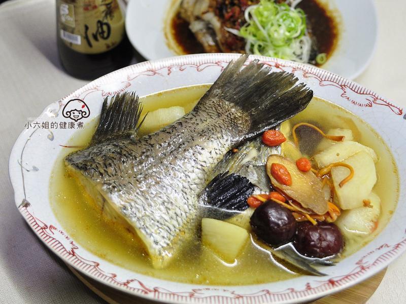 山藥鱸魚湯【福壽純芝麻油玩料理】