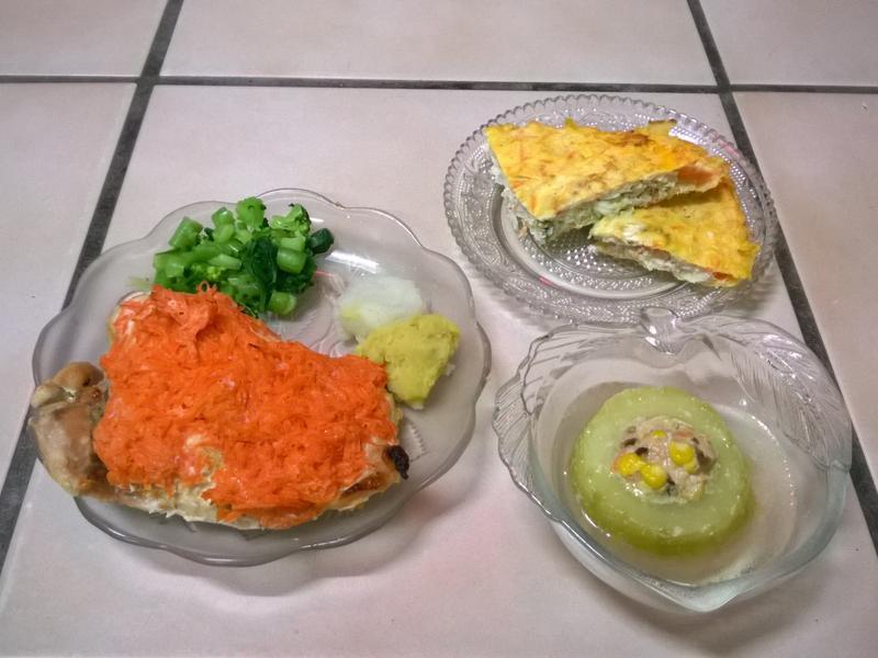 鮮食🐾蜜汁烤雞 月亮(蝦)餅 黃瓜鑲肉
