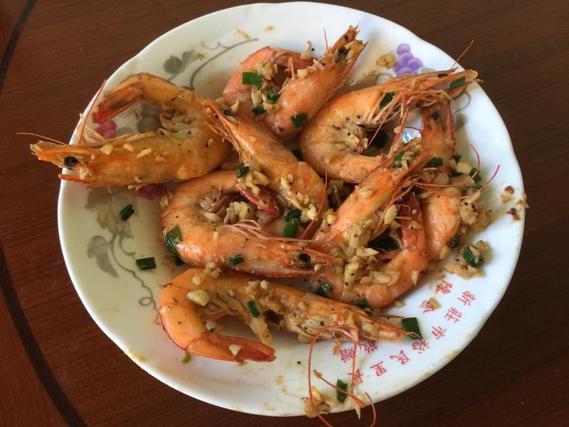 無油蒜味燒蝦