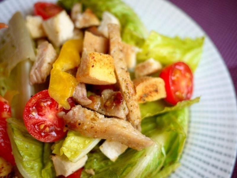 ♫下廚--西西里豬排沙拉佐日式芥茉和風醬Salad