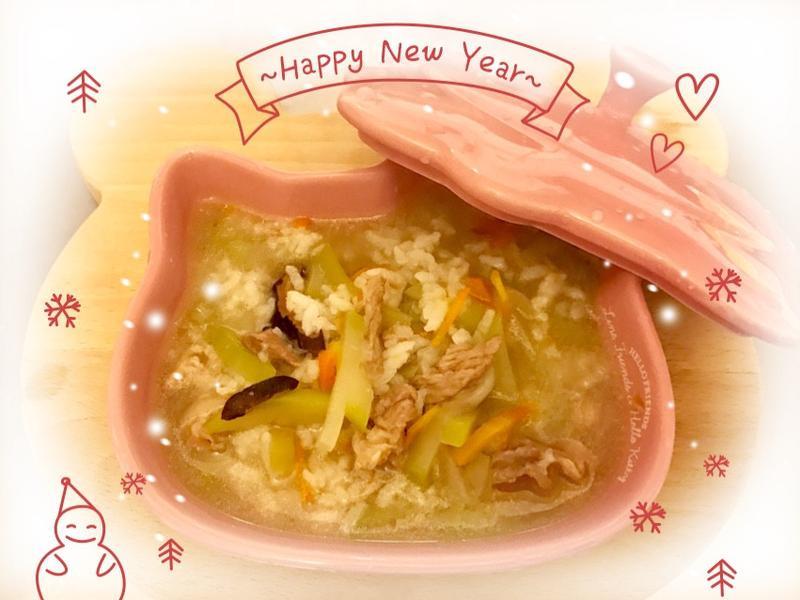 蒲仔香菇瘦肉粥