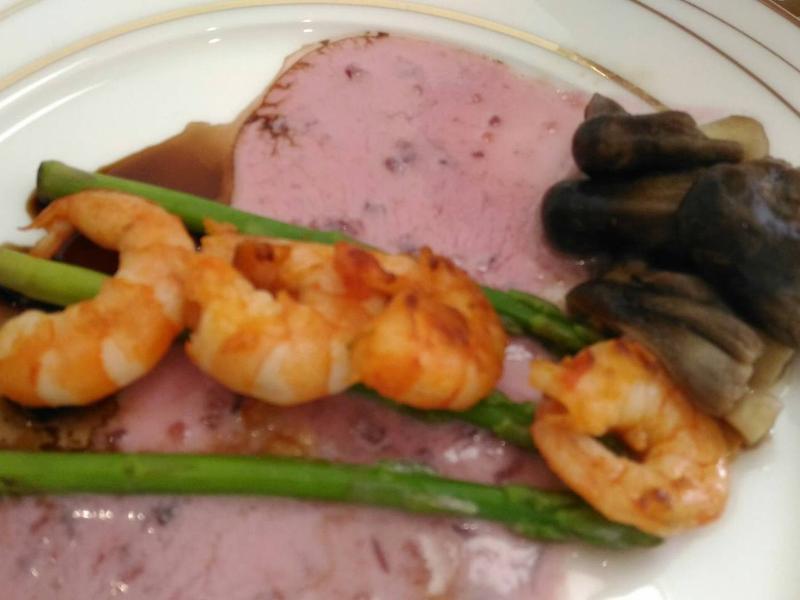 鮮蝦蘆筍冷盤