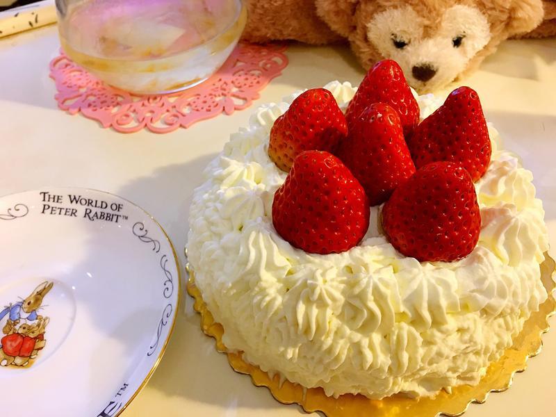 氣炸鍋版草莓鮮奶油蛋糕