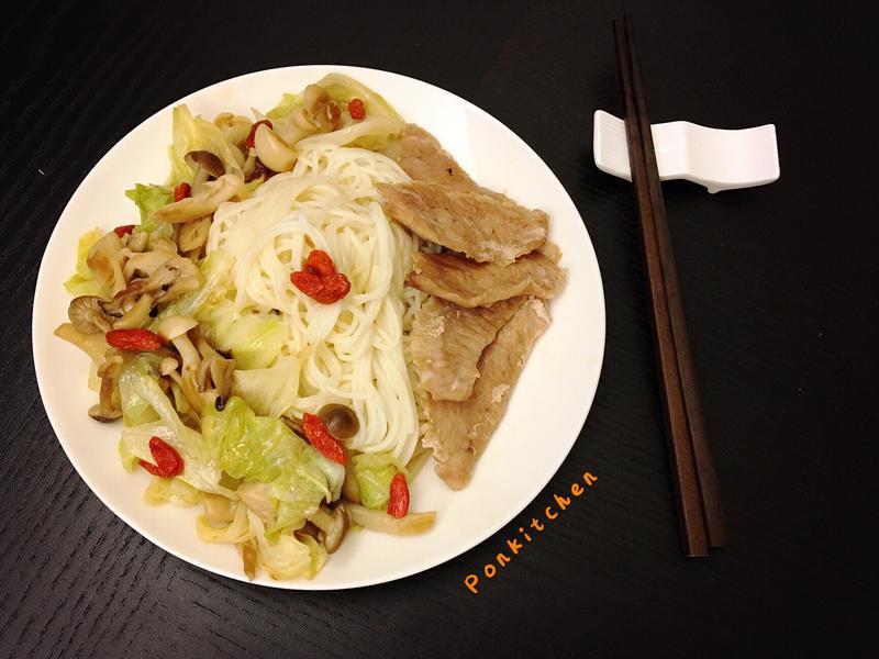 麻油松阪鮮蔬麵線