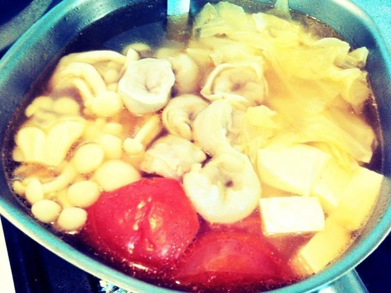 元氣滿滿~健康魚餃蔬菜湯