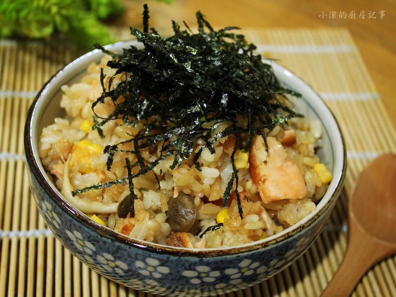 洋蔥鮭魚炊飯