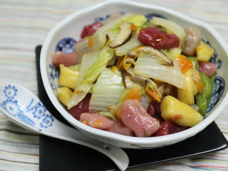 白菜滷麵疙瘩-純素【芊然五行麵疙瘩】