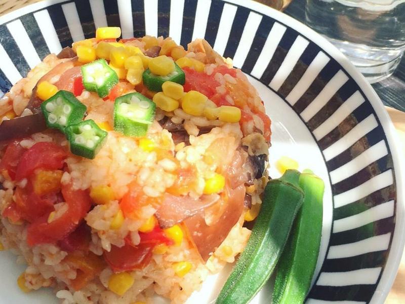 玉米蕃茄飯