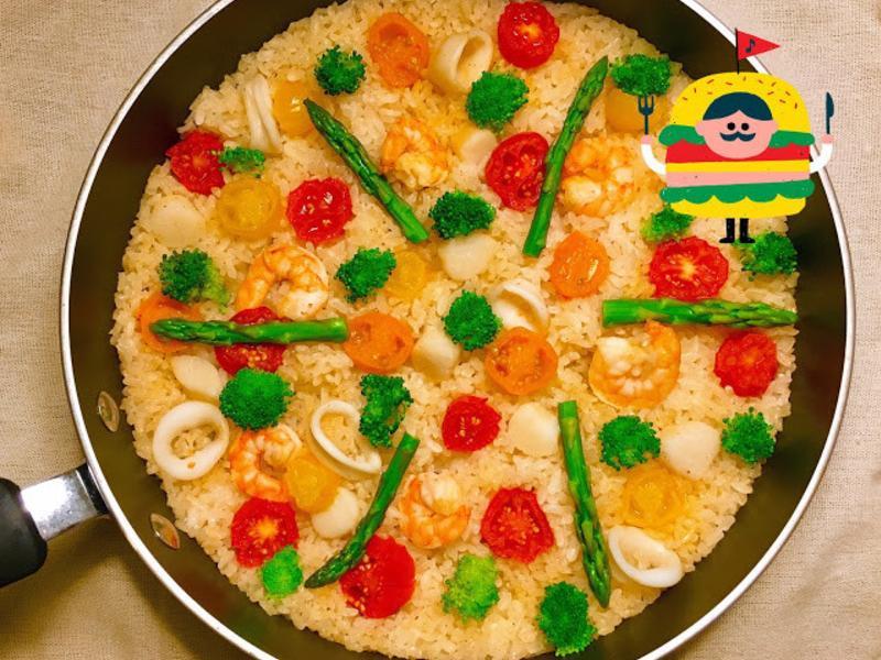 奶油番茄海鮮炊飯