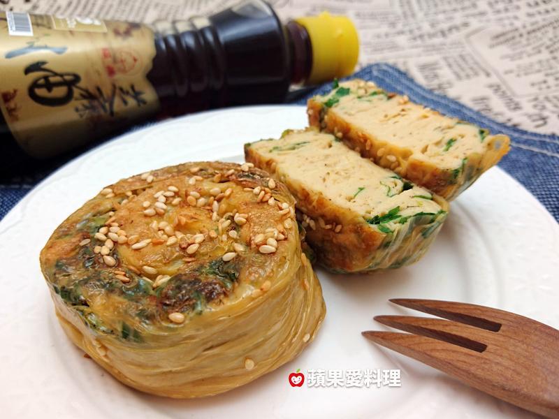 蝸牛豆皮葱餅【福壽純芝麻油玩料理】