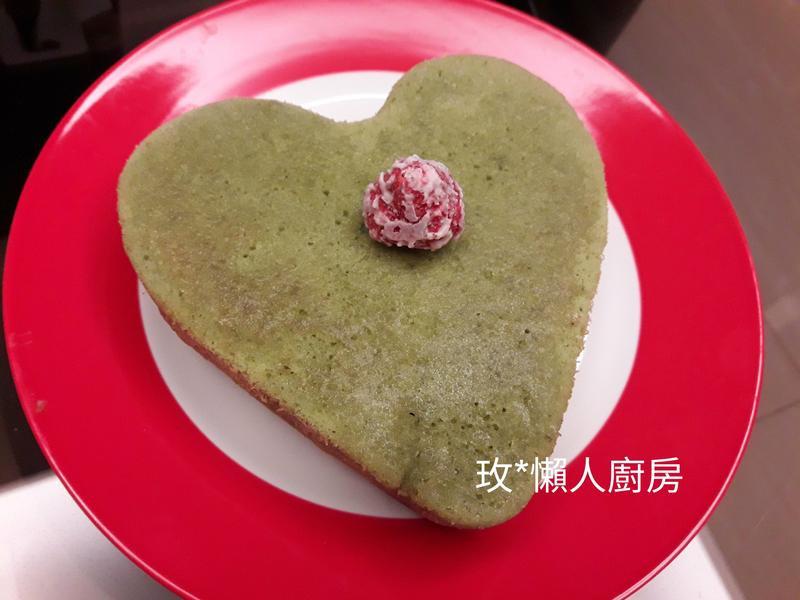 【烤箱X懶人】辻利宇治抹茶愛心蛋糕