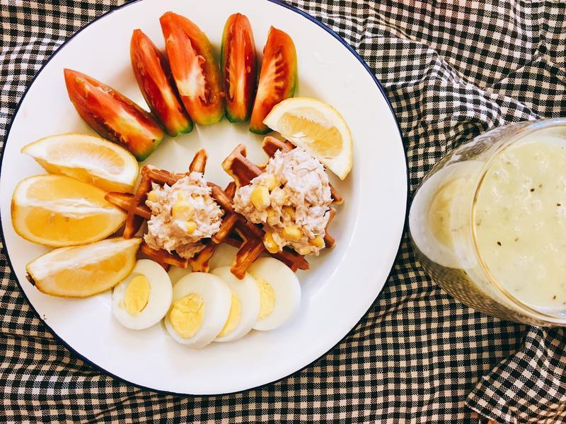 好好吃早餐系列-鮪魚玉米鬆餅