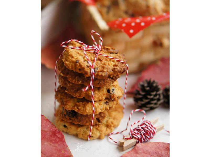 饗瘦美味-肉桂燕麥蔓越莓餅