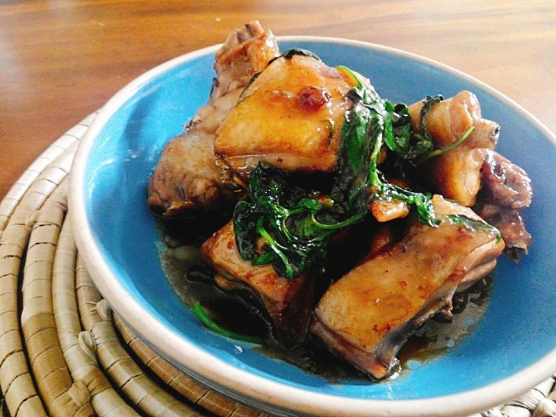塔香三杯雞一超簡單,一鍋完成