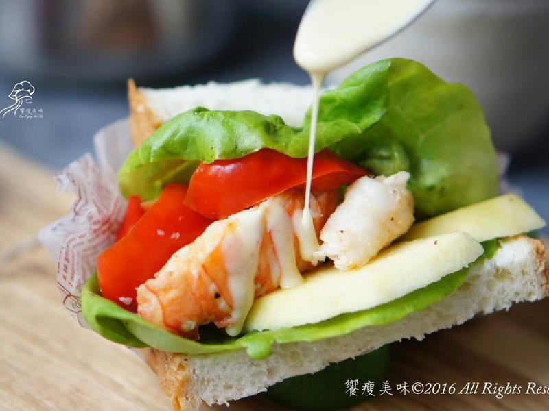 饗瘦美味-蜂蜜第戎芥末優格龍蝦三明治
