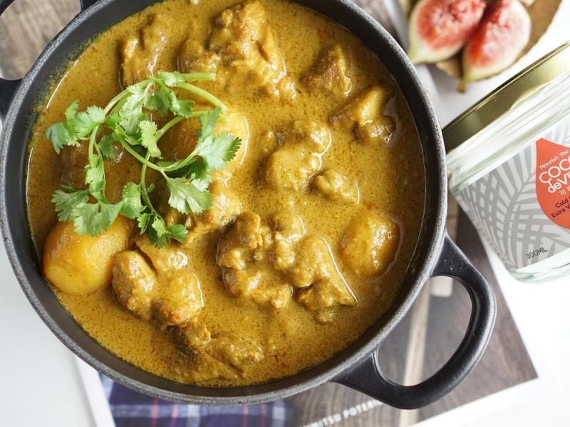 泰式椰子油黃咖哩雞~宴客自用皆宜
