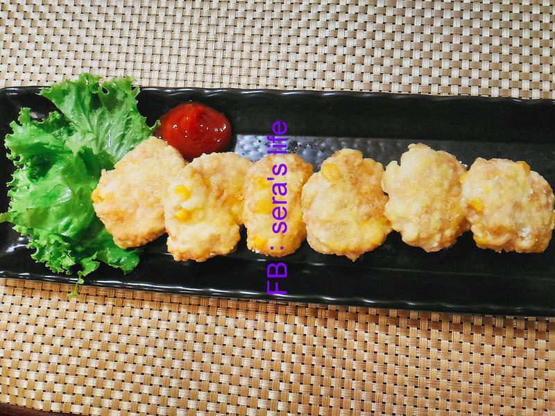玉米豆腐雞塊-小烤箱版