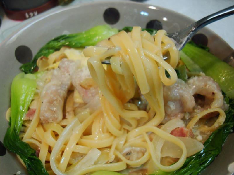 桂冠奶油起司餃子義大利麵