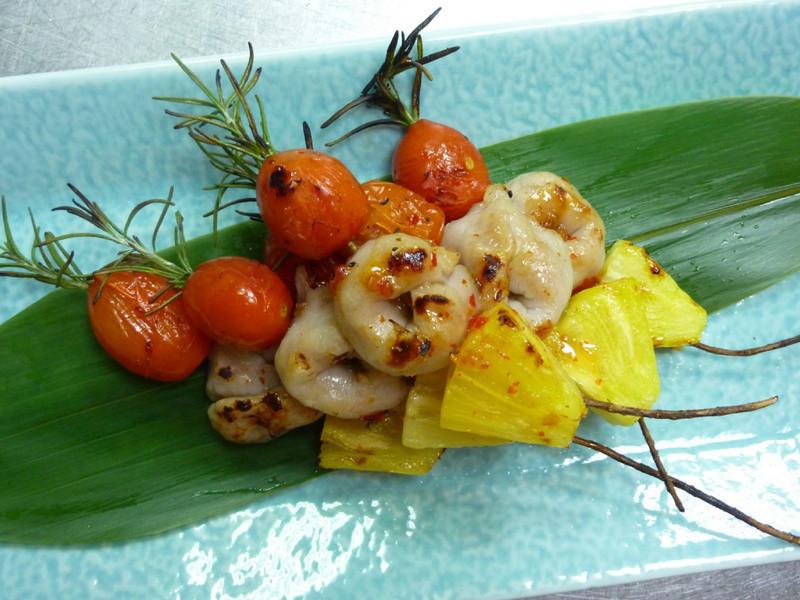 ((卡哇夷))桂冠魚餃 之 夏日繽紛蔬果串燒