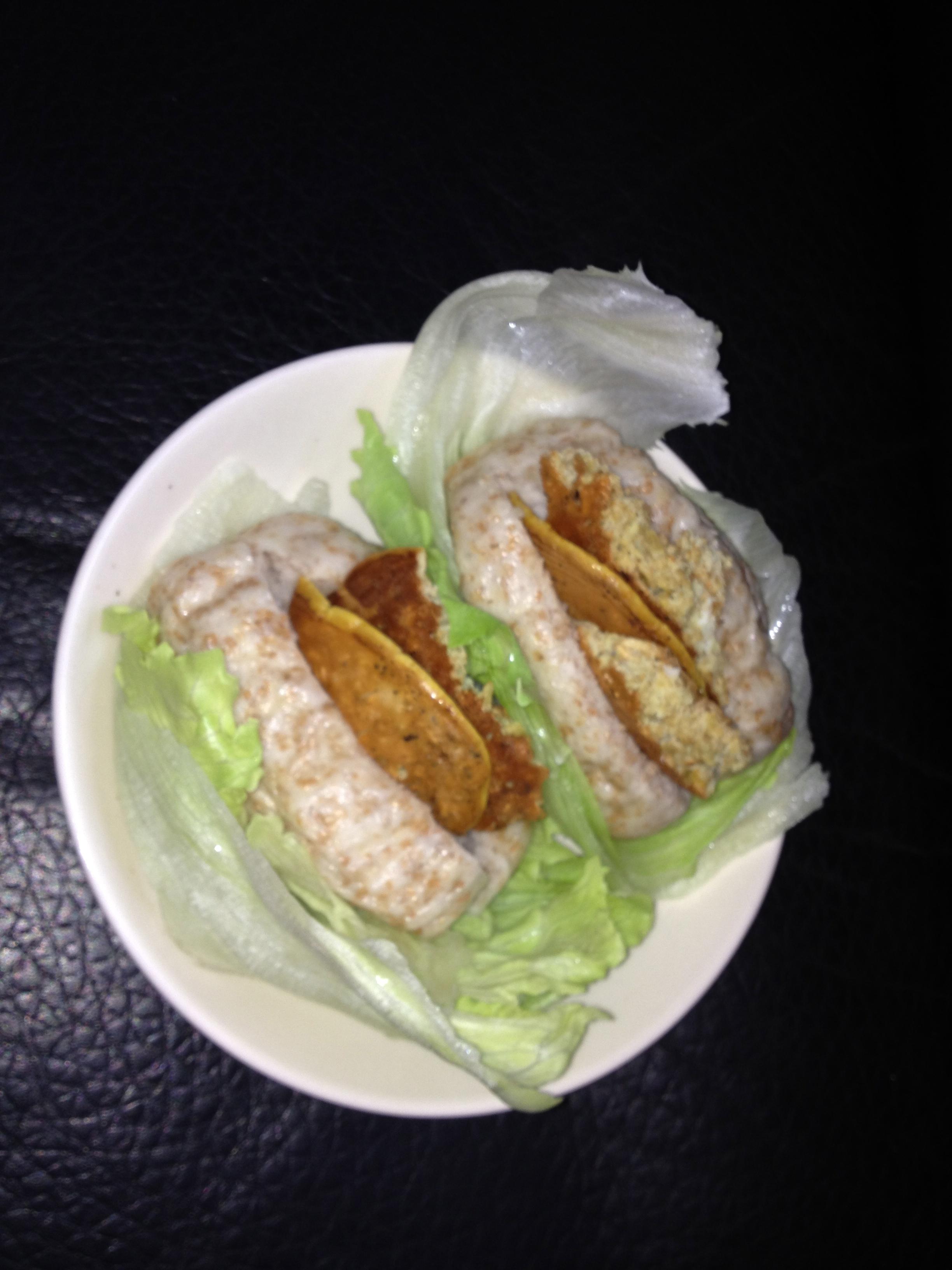 懶人早餐 饅頭夾蛋配生菜