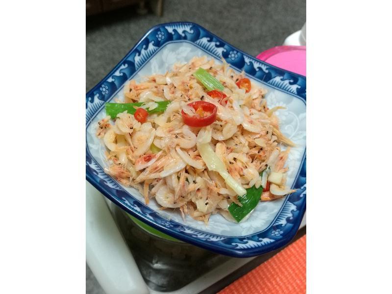 蔥爆櫻花蝦