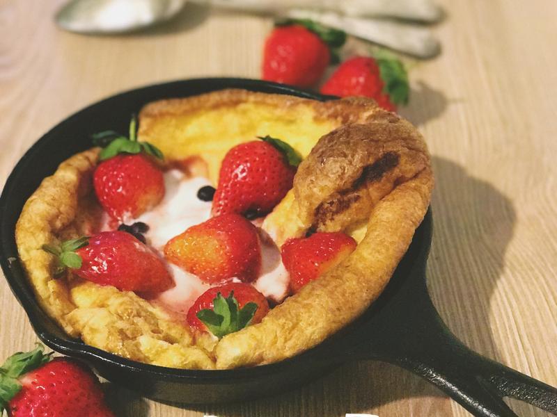 莓果優格鐵鍋鬆餅