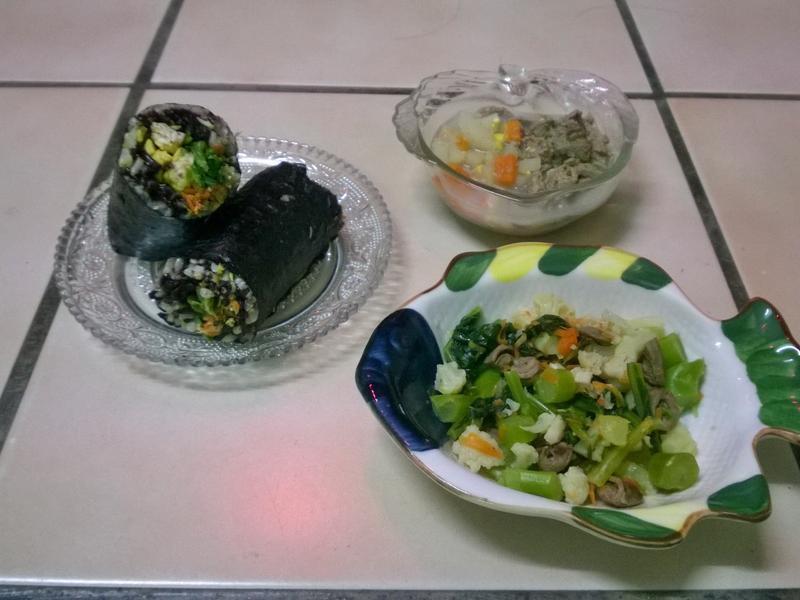 鮮食🐾壽司 蕪菁下水湯 蔬菜炒雞心