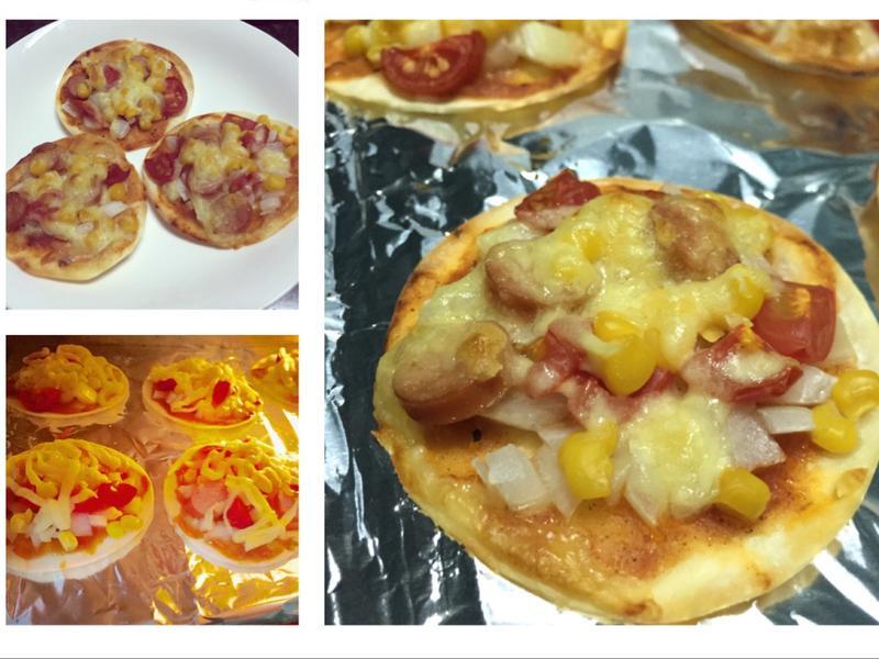 餃子皮變身薄餅Pizza