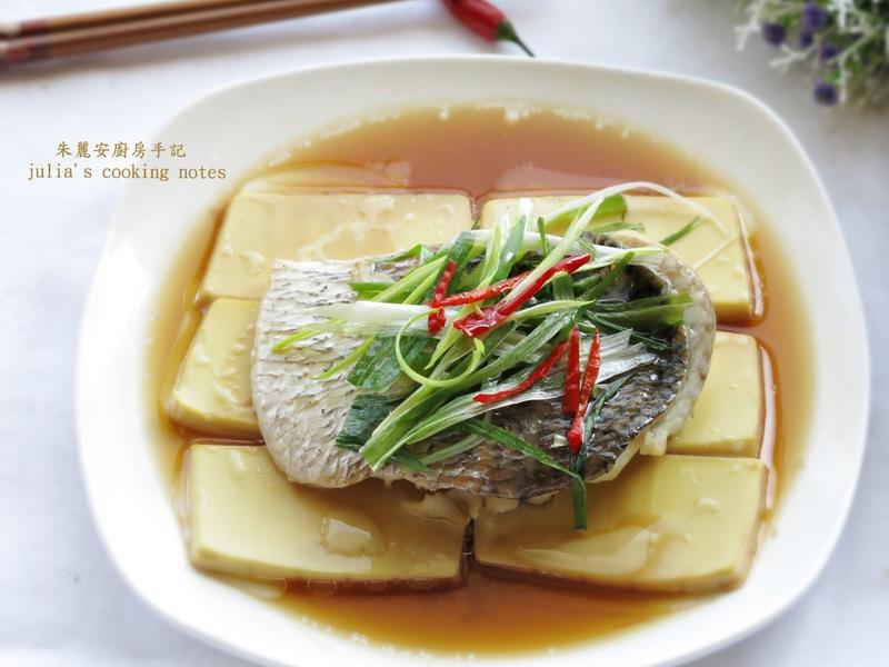 [鱸魚肚豆腐蒸]3步驟簡單家常菜