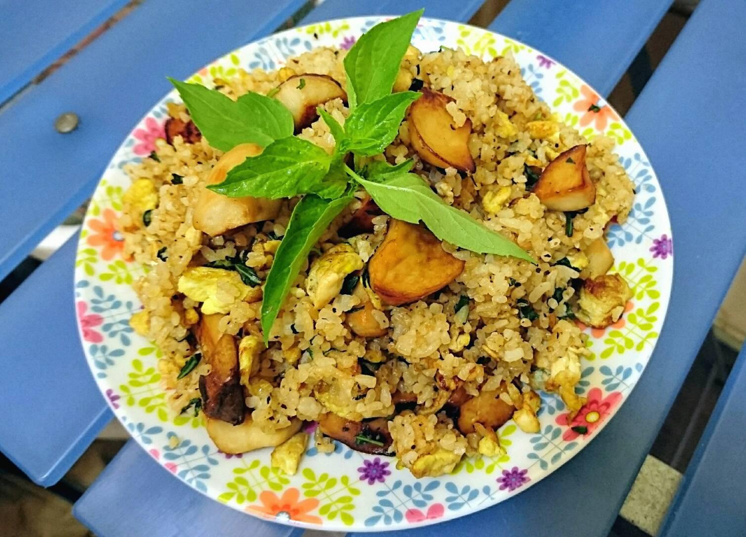 塔香杏鮑菇炒飯