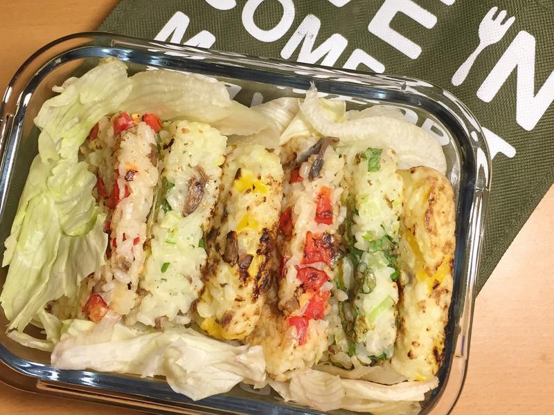 便當盒菜菜No.2 三色蔬菜煎飯