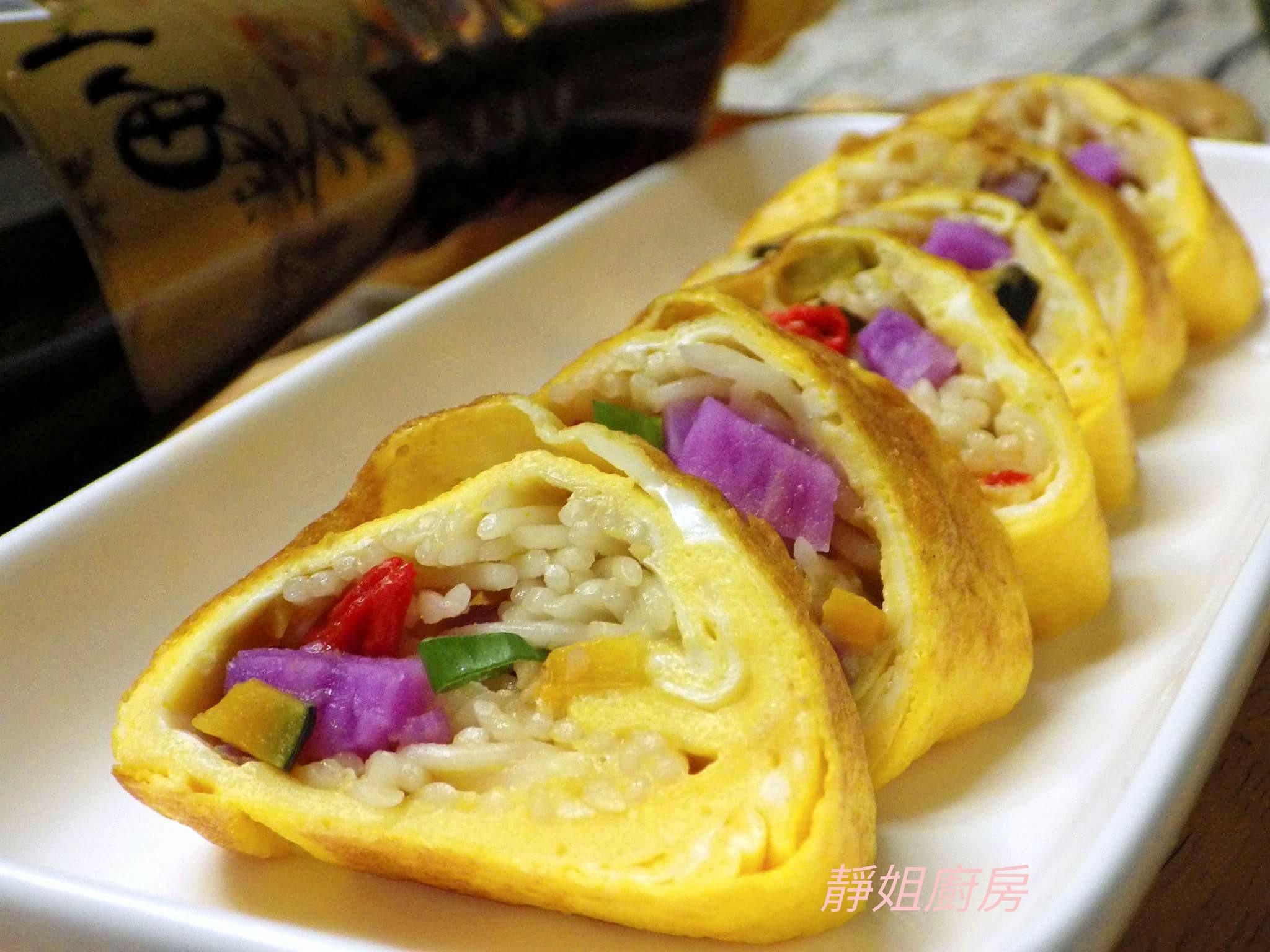 麻油麵線蔬食蛋捲【福壽純芝麻油玩料理】