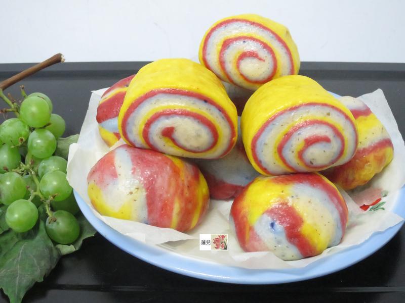 彩色包子、饅頭