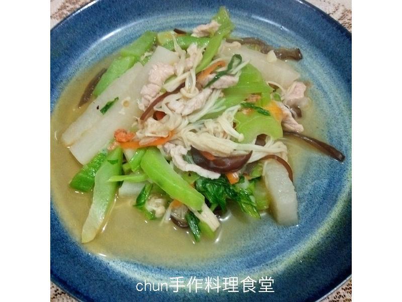 刈菜炒三絲  (福壽純芝麻油玩料理)