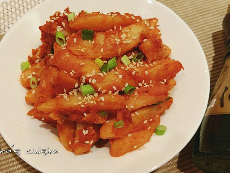 韓式風味馬鈴薯[福壽純芝麻油玩料理]