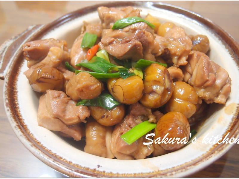 ♥我的手作料理♥ 栗子燒雞