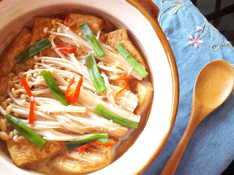 醬燒豆腐菇菇煲【福壽純芝麻油玩料理】