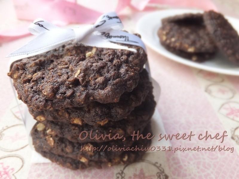 [Olivia♥]巧克力燕麥餅乾 Chocolate Oatmeal Cookies