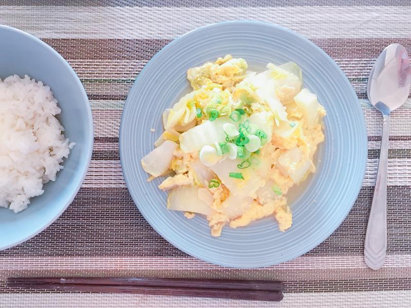蛋炒小白菜