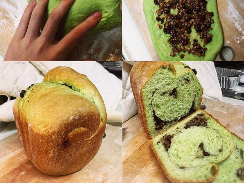 💚麵包機抹茶蜜豆捲之方便黑八寶🖤